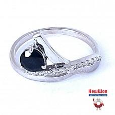 Бронь! Золотое кольцо с сапфиром и бриллиантами