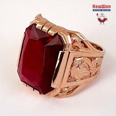 Бронь! Золотой перстень с рубином