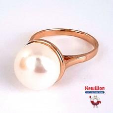 Бронь! Золотое кольцо с жемчугом