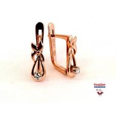 Бронь! Золотые серьги с бриллиантами