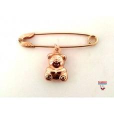 Золотая булавка с медвежонком
