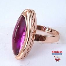 Бронь! Золотое кольцо с лунным аметистом