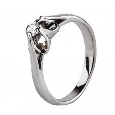 """Золотое кольцо  с бриллиантом """"Бриллиантовый цветок"""""""
