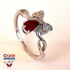 Бронь! Золотое кольцо с рубином и бриллиантами