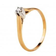 Продано! Золотое кольцо с бриллиантом