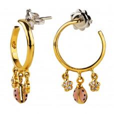 Золотые серьги с бриллиантами Aaron Basha