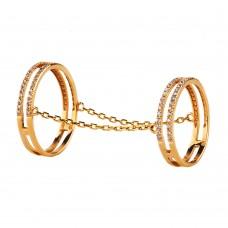 V Золотое кольцо с цирконием