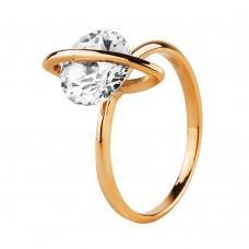 Золотое кольцо с крутящимся цирконием