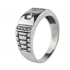 Серебряный перстень с кубическим цирконием