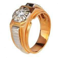 V Золотая печатка с бриллиантами