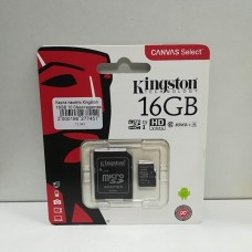 Карта памяти Kingston 16 GB microSDHC Class 10 UHS-I + SD Adapter SDC10G2/16GB