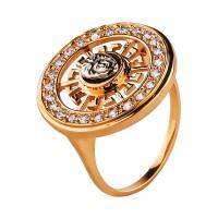 Продано! Золотое кольцо с цирконием в стиле Versace