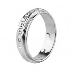 Нет в наличии! Золотое обручальное кольцо с бриллиантами