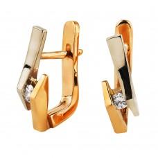 V Золотые серьги с бриллиантами