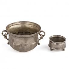 Серебряная чаша и солонка