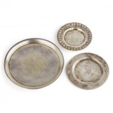 Серебряные тарелки, 3 штуки