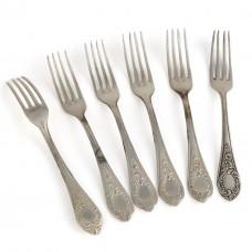 Серебряные вилки, 6 штук