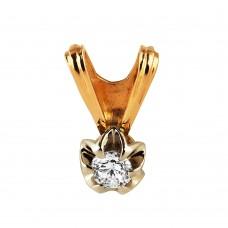 V Золотой кулон с бриллиантом