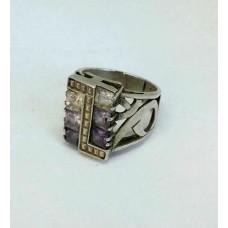 Серебряный перстень с цирконием