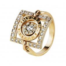 Бронь! Золотое кольцо с цирконием Bvlgari