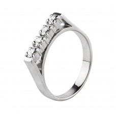 "Золотое кольцо с бриллиантами ""Полоса удачи"""
