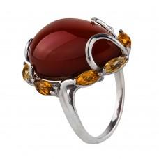 Продано! Серебряное кольцо с янтарем