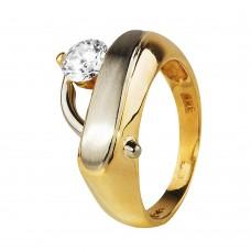 Золотой перстень с крупным цирконием