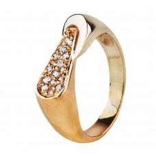 Бронь! Золотое кольцо с цирконием