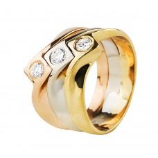 """Золотое кольцо с бриллиантами """"Trinity"""""""