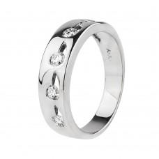 Золотое кольцо с бриллиантами (обручальное)