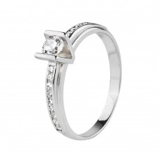 """Золотое кольцо с цирконием """"Мисс V"""""""