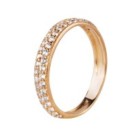 Бронь!Золотой комплект: кольцо и серьги с цирконием