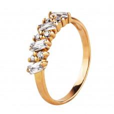 """Золотое кольцо с цирконием """"Кимберли"""""""