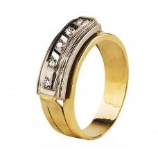 Золотое кольцо с бриллиантами (мужское)