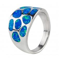 Серебряное кольцо с 3D эмалью