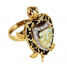 """Золотое кольцо с тайником """"Черепаха"""""""