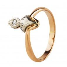 """Золотое кольцо с бриллиантами""""Бомонд"""""""