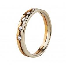 """Продано! Золотое обручальное кольцо с бриллиантами """"Classic wedding"""""""