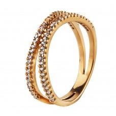"""Золотое кольцо с цирконием """"Тропинка"""""""