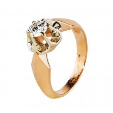 Бронь!Золотое кольцо с бриллиантом