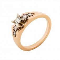"""Золотое кольцо с бриллиантами """"Бриллиантовый квинтет"""""""