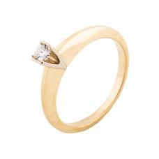 """Золотое кольцо с бриллиантом """"Соблазн"""""""