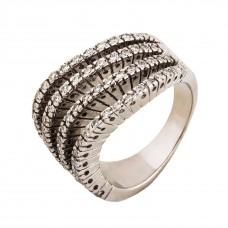 Золотое кольцо с белым цирконием