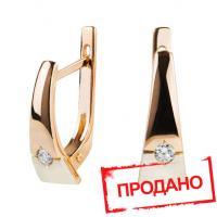 Проданы! Золотые серьги с бриллиантами
