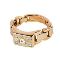 Бронь! Золотой перстень браслетного плетения с бриллиантами