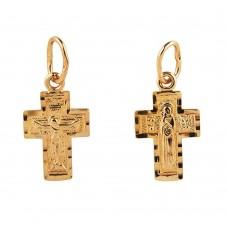 Золотой крестик (двухсторониий)